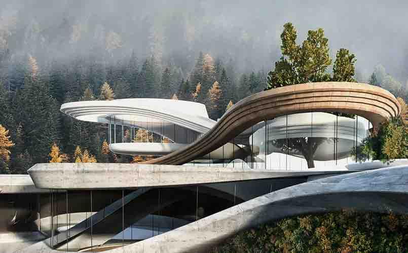 Casa di montagna di Miroslav Naskov nelle alpi svizzere